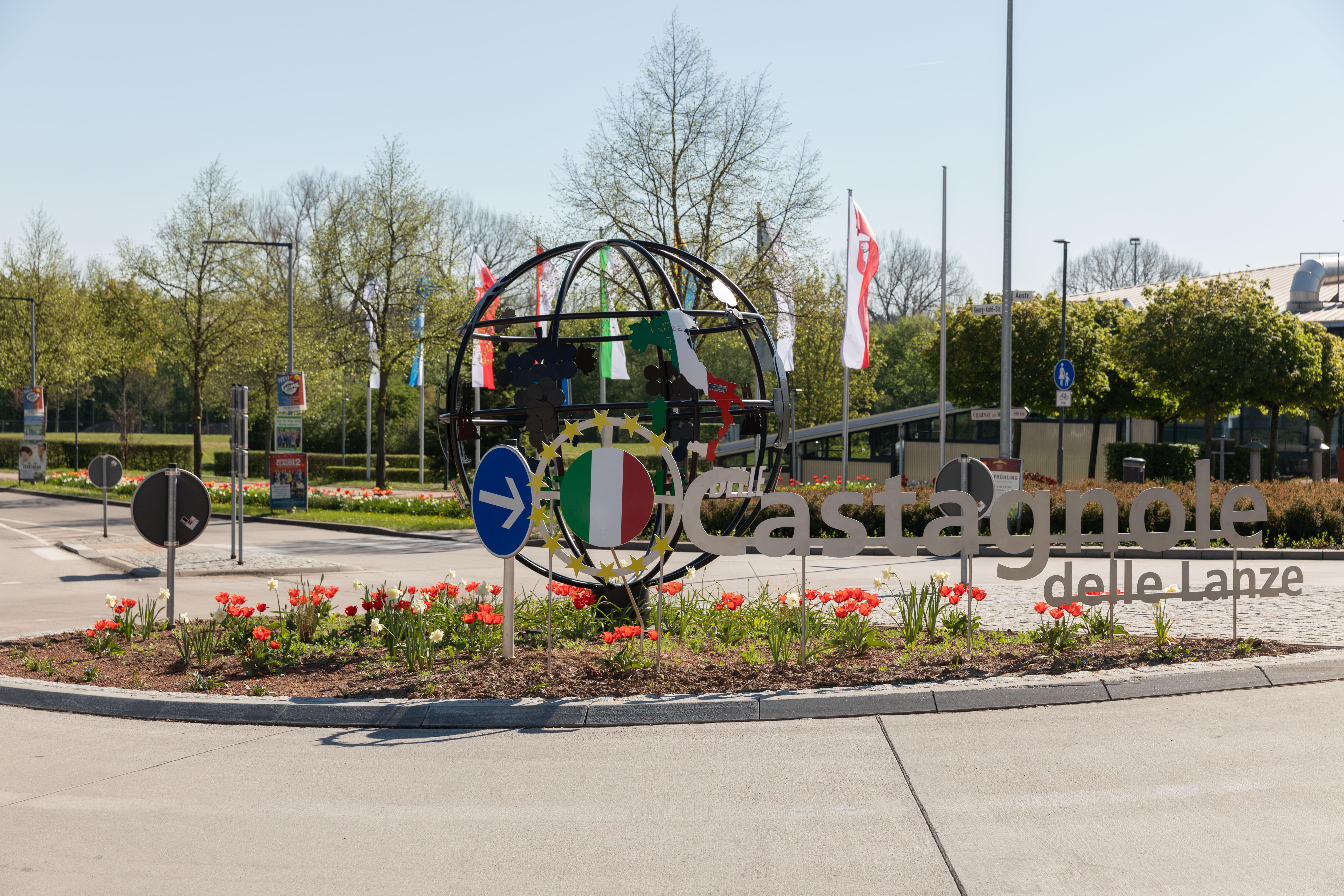 Kreisverkehr italienische Partnerstadt