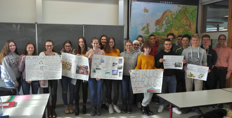 Klasse 10 a Zabergäu-Gymnasium mit Herrn Schäfer