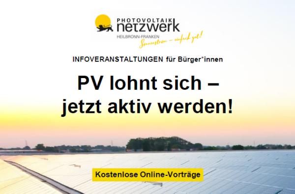 Photovoltaik lohnt sich - jetzt aktiv werden!