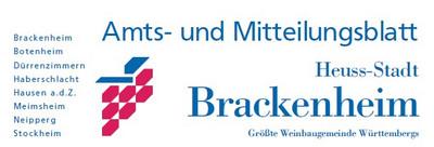 Amts- und Mitteilungsblatt der Stadt Brackenheim