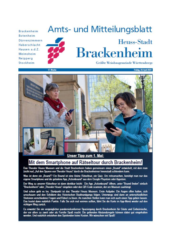 Titelseite Amtsblatt KW17